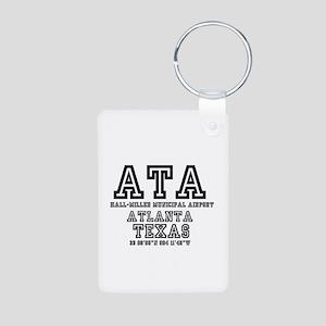 TEXAS - AIRPORT CODES - ATA - H Keychains