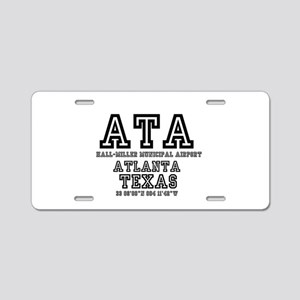 TEXAS - AIRPORT CODES - ATA Aluminum License Plate