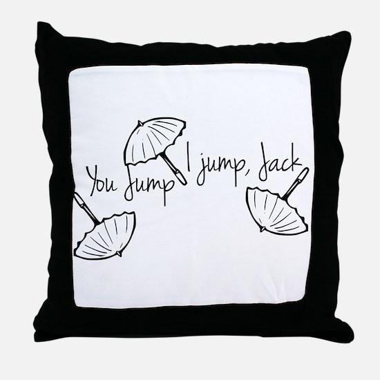 Gilmore girls, you jump I jump Throw Pillow