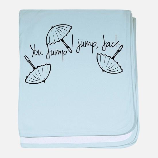 Gilmore girls, you jump I jump baby blanket