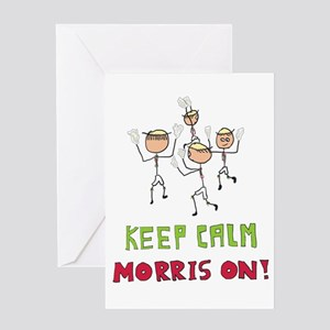 Keep Calm Morris Dancing Greeting Cards