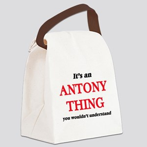 It's an Antony thing, you wou Canvas Lunch Bag