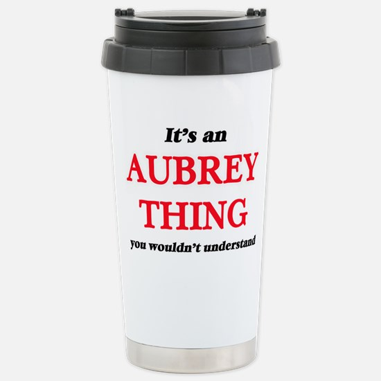 It's an Aubrey thin Stainless Steel Travel Mug