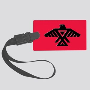 Anishinaabe Thunderbird flag Large Luggage Tag