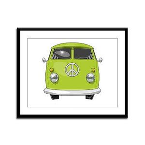 Hippie Van Framed Panel Print