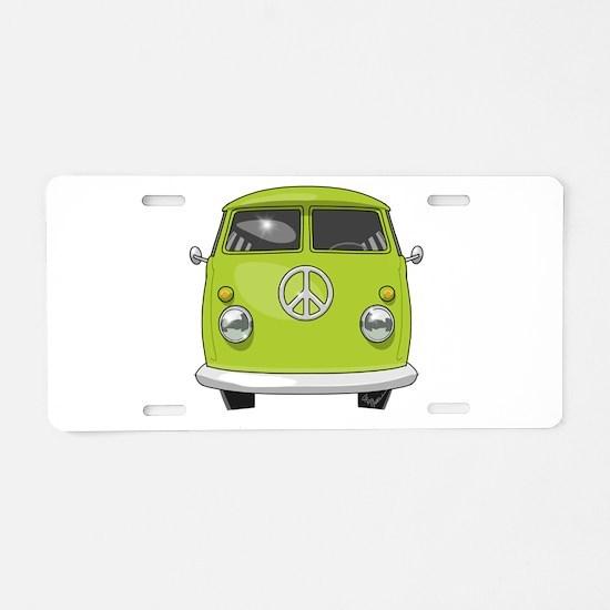 Hippie Van Aluminum License Plate