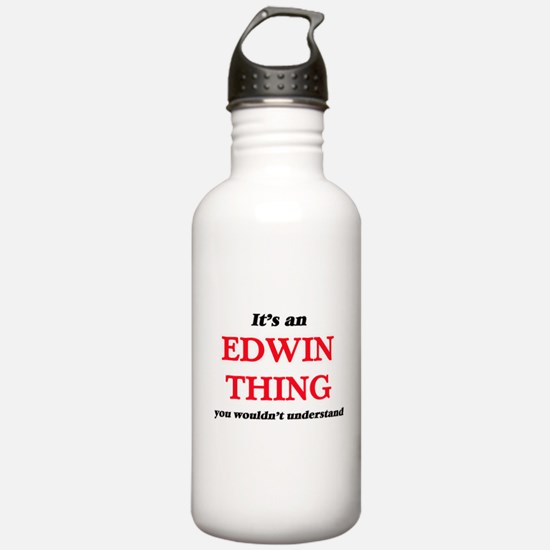 It's an Edwin thin Water Bottle