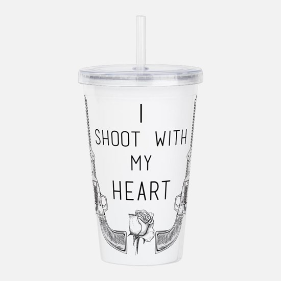 Gunslinger - I Shoot with My Heart Acrylic Double-