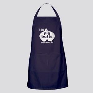 I Like Pig Butts Apron (dark)