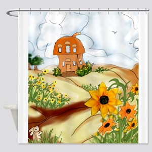 Right At Home With the Daisies Shower Curtain