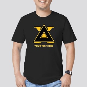 Delta Chi Fraternity L Men's Fitted T-Shirt (dark)