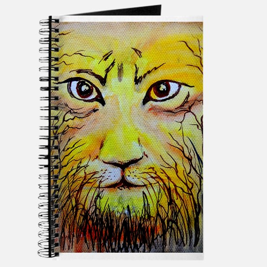 Beautiful Mighty Lion Face Journal