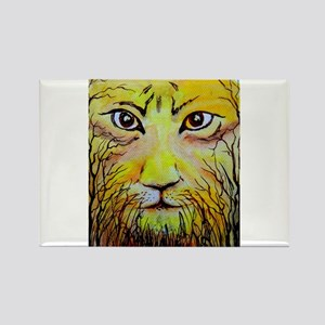 Beautiful Mighty Lion Face Rectangle Magnet