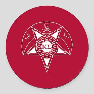 Kappa Sigma Badge Round Car Magnet