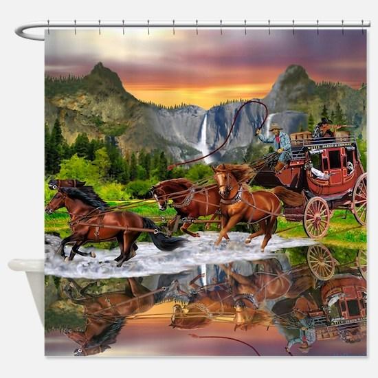 Wells Fargo Stagecoach Shower Curtain
