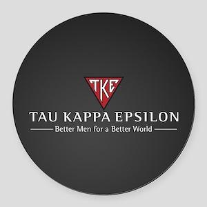 Tau Kappa Epsilon Logo Round Car Magnet