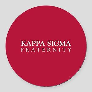 Kappa Sigma Fraternity Round Car Magnet