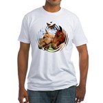 2 Horses Fitted T-Shirt