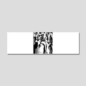 Penquins Car Magnet 10 x 3