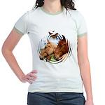 2 Horses Jr. Ringer T-Shirt