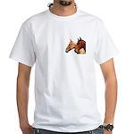 2 Horses White T-Shirt