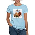 2 Horses Women's Pink T-Shirt