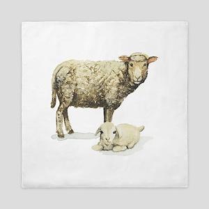 Sheep And Lamb Queen Duvet