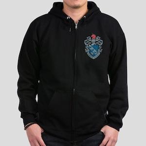 Theta Xi Crest Zip Hoodie (dark)