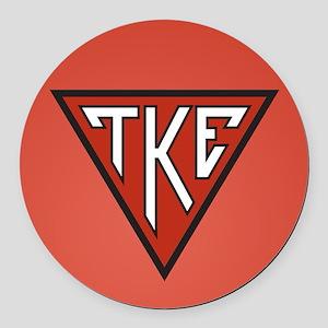 Tau Kappa Epsilon House Round Car Magnet
