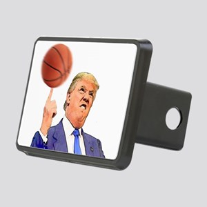 Donald Trump Spinning a Basketball Hitch Cover