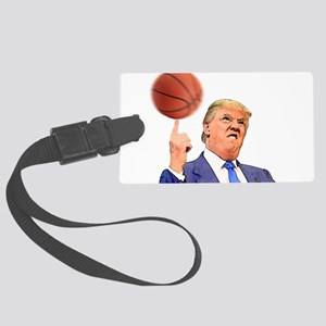 Donald Trump Spinning a Basketball Luggage Tag