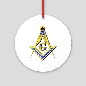Freemason Square & Compasses Round Ornament