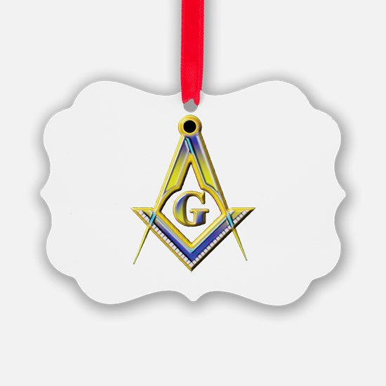 Freemason Square & Compasses Ornament