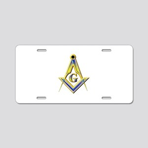 Freemason Square & Compasses Aluminum License Plat
