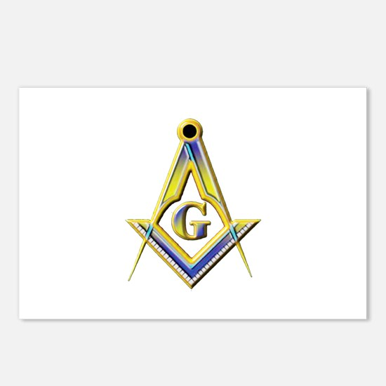 Freemason Square & Compasses Postcards (Package of