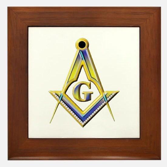 Freemason Square & Compasses Framed Tile