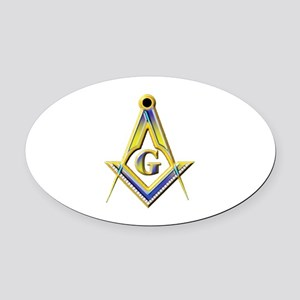 Freemason Square & Compasses Oval Car Magnet