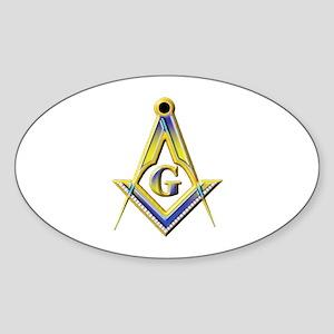 Freemason Square & Compasses Sticker