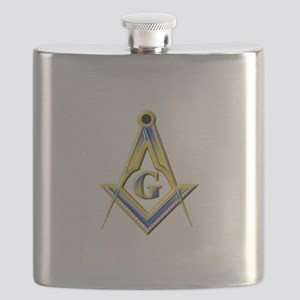 Freemason Square & Compasses Flask