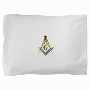 Freemason Square & Compasses Pillow Sham