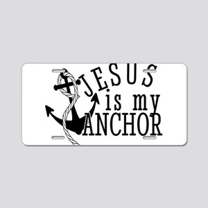 Jesus Is My Anchor Aluminum License Plate