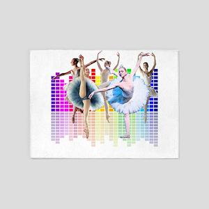 ballerina Equalizer Dancer 5'x7'Area Rug