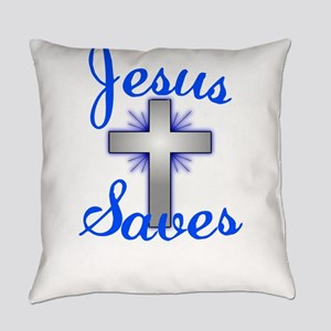 Jesus Saves Everyday Pillow