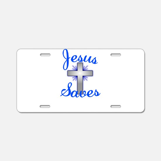 Jesus Saves Aluminum License Plate