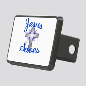 Jesus Saves Rectangular Hitch Cover