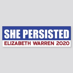 She Persisted Bumper Sticker