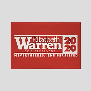 Warren 2020 Persist Rectangle Magnet