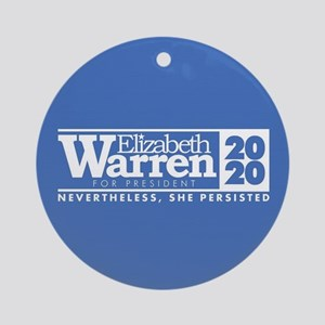 Warren 2020 Persist Round Ornament