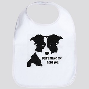 Border Collie Art Baby Bib