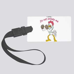 Rooster in gloves Luggage Tag